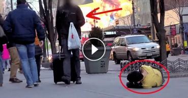 Hajléktalan gyerek a járdán reszketve feküdt, ami ezután történt az szívszorító – VIDEÓ