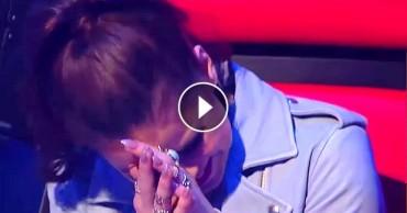 Könnyekben tört ki az énekesnő a 13 éves lány hangjától