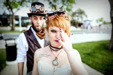 Steampunk esküvő, melyet az Alice csodaországban ihletett