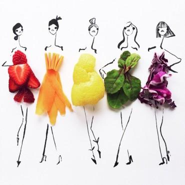 A divat illusztrátor, aki ételből készíti ruha vázlatait