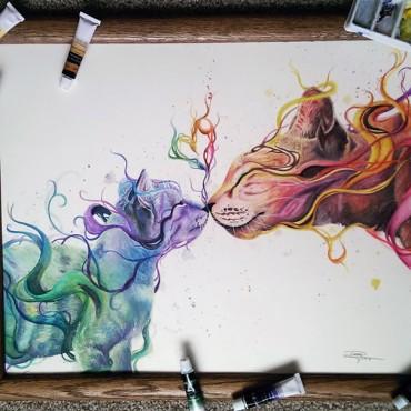 Egy 17 éves autodidakta mexikói művész lenyűgöző festményei és rajzai