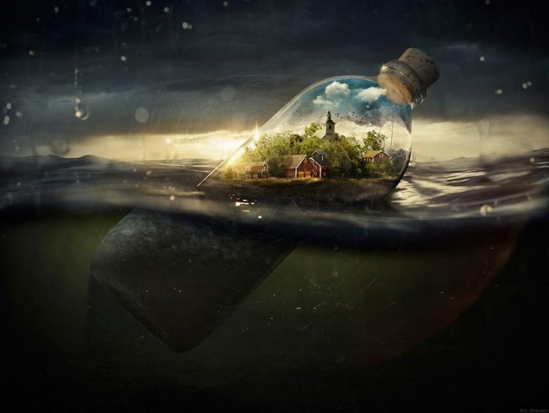 A photoshop géniusz Erik Johansson megmutatja hogyan készülnek észbontó munkái