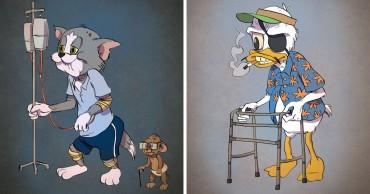 Ha a rajzfilmfigurák is öregednének, így néznének ki ma