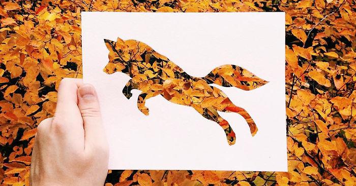 Csodálatos sziluett alkotások a természet és egy papírlap segítségével