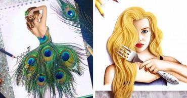 A 19 éves művész valóságból vett eszközökkel illusztrálja alkotásait