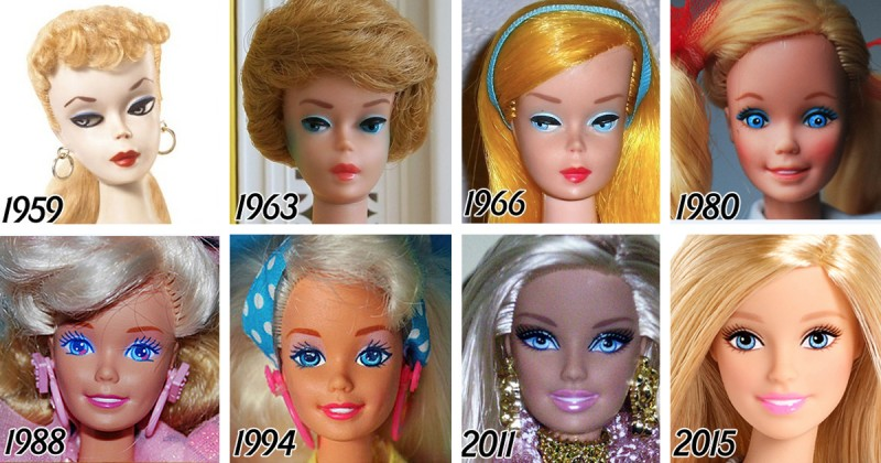Barbie 56 éves evolúciója