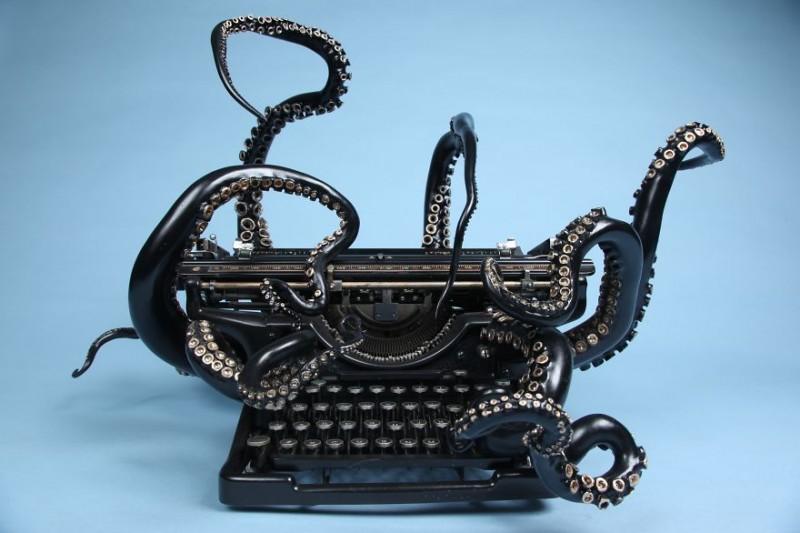 Az írógép, amiből polipot csináltak