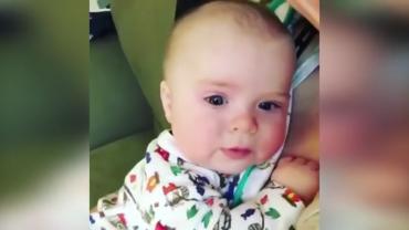 A 4 hónapos kisbabáról készült felvételtől kizárt, hogy ne mosolyogd el magad!