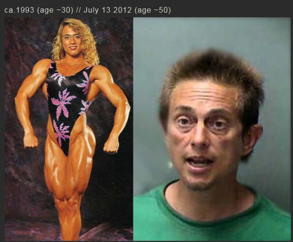 Ezt művelte 20 évnyi szteroidozás a nővel! Durva fotók!