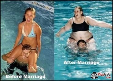 8 kép a házasság előtti és utáni állapotokról