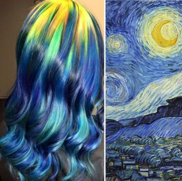 Kedvenc festményeit viseli a fején egy kansasi hajstylist
