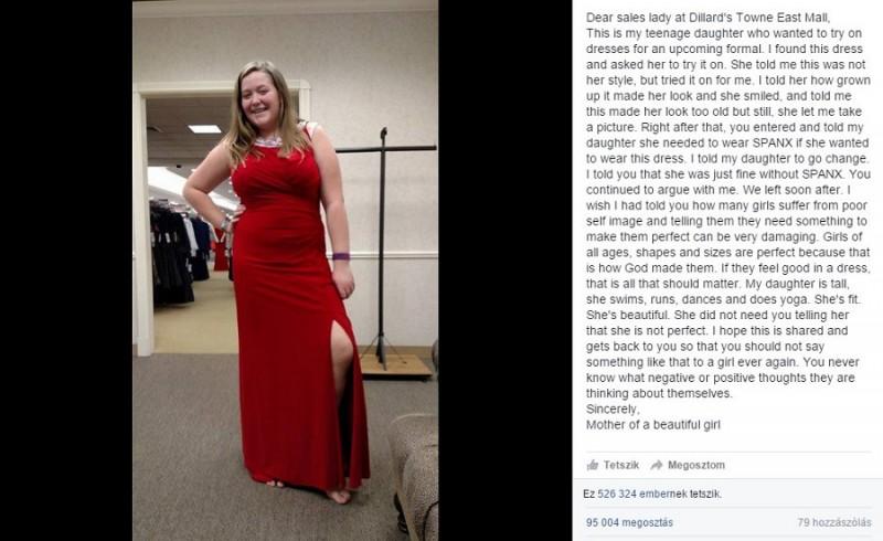 Csinos ruhát akart vásárolni ez a lány, de az eladó porig alázta