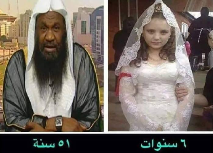 Elképesztő! Az 51 éves szaudi férfi, és a 6 éves felesége.